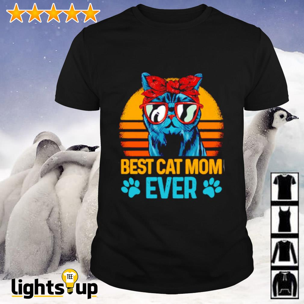 Best cat mom ever sunset shirt