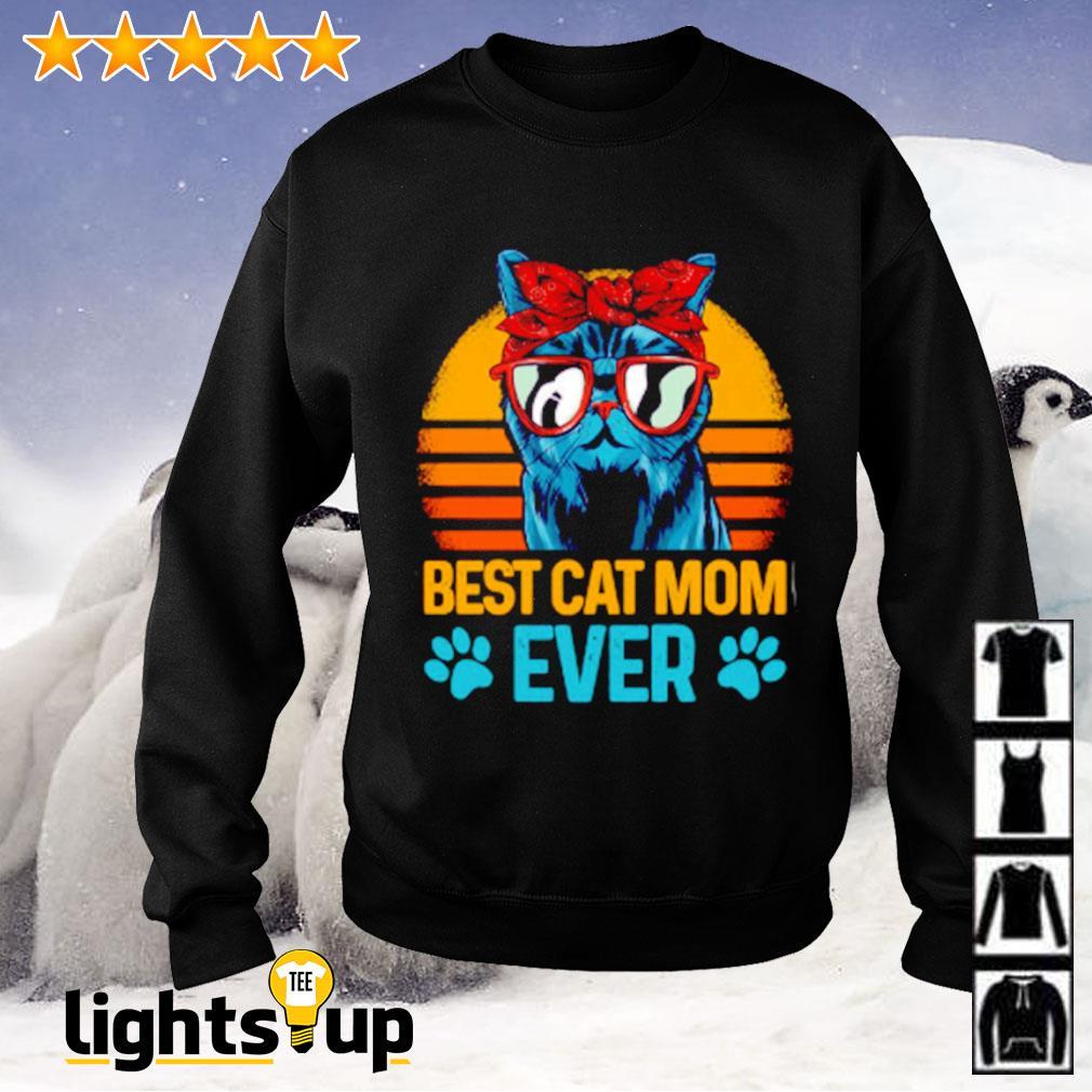 Best cat mom ever sunset Sweater
