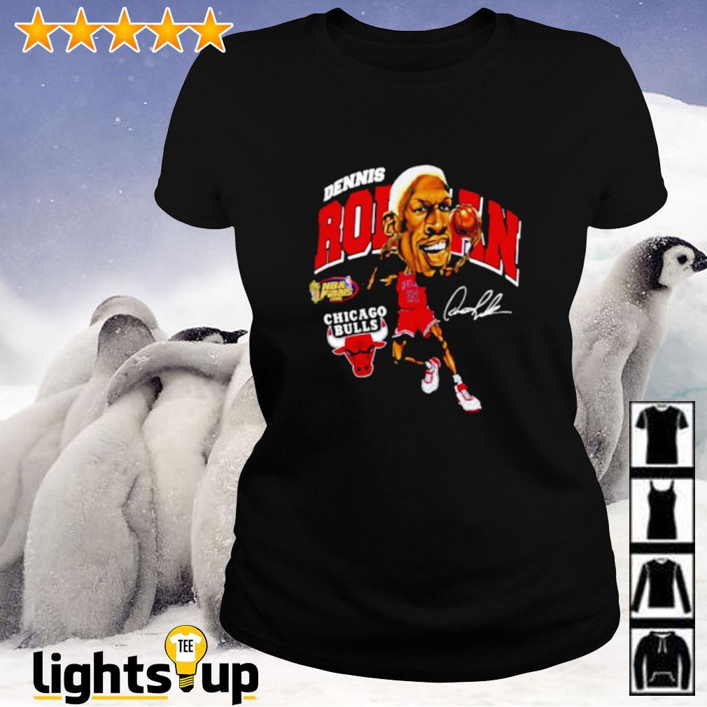 Dennis Rodman Chicago Bulls signature Ladies-tee