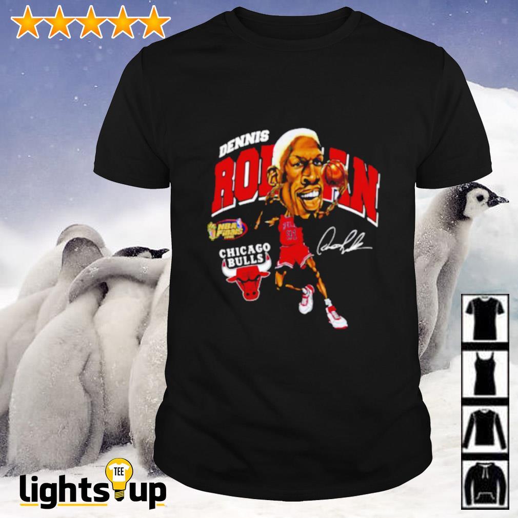 Dennis Rodman Chicago Bulls signature shirt