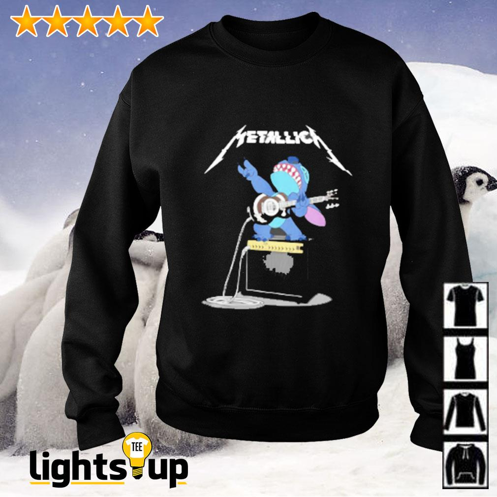 Metallica Stitch play guitar Sweater