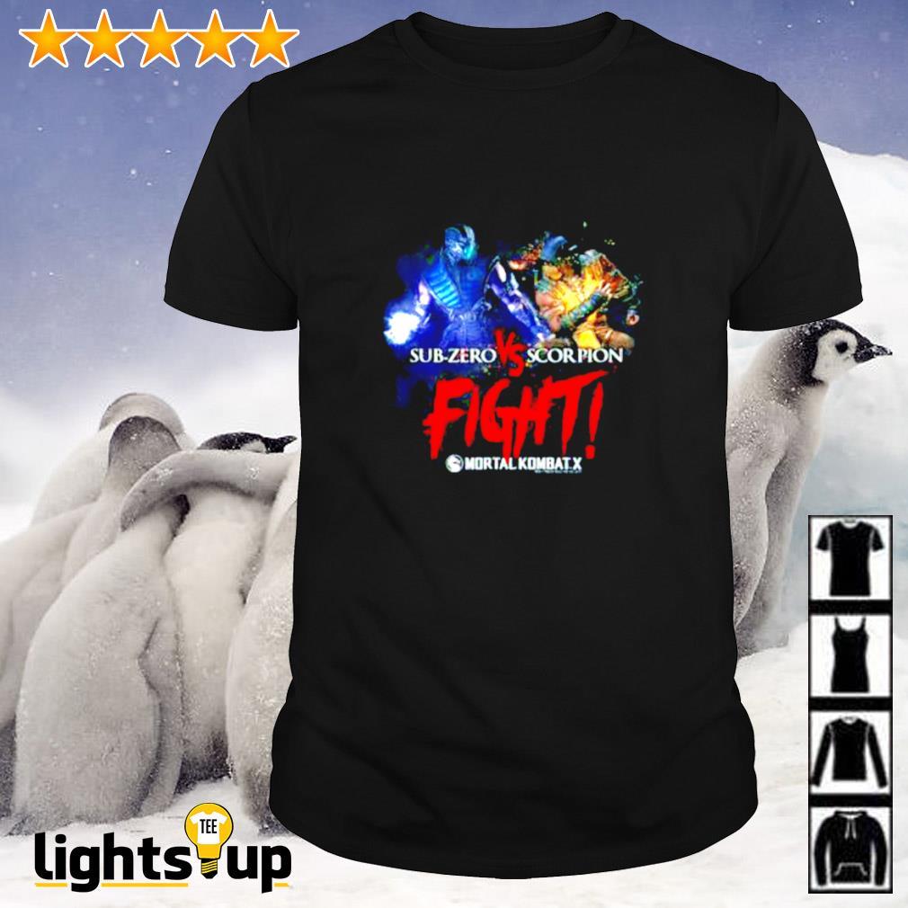 Mortal Kombat Sub-Zero Vs Scorpion fight shirt