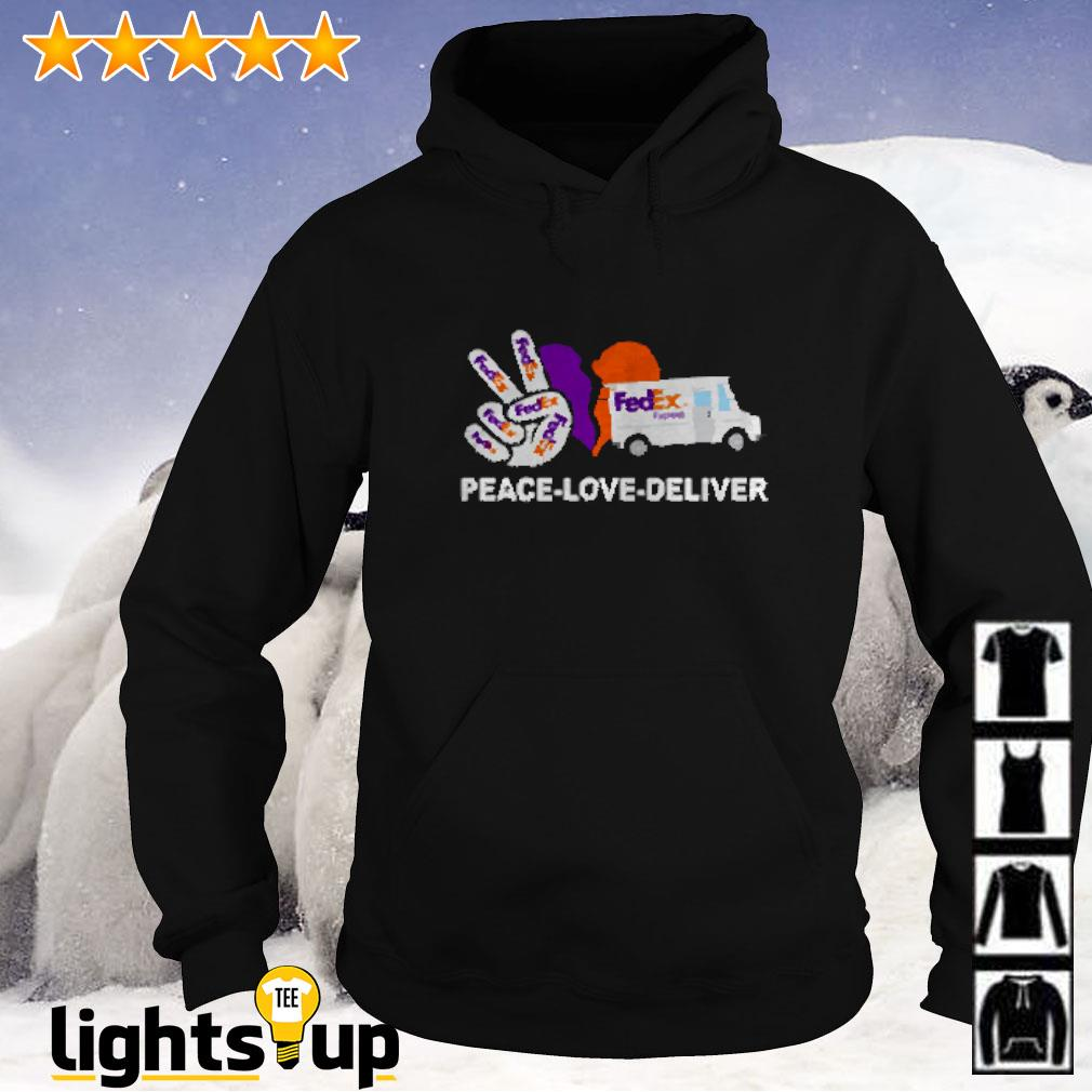 Peace love deliver FedEx express Hoodie