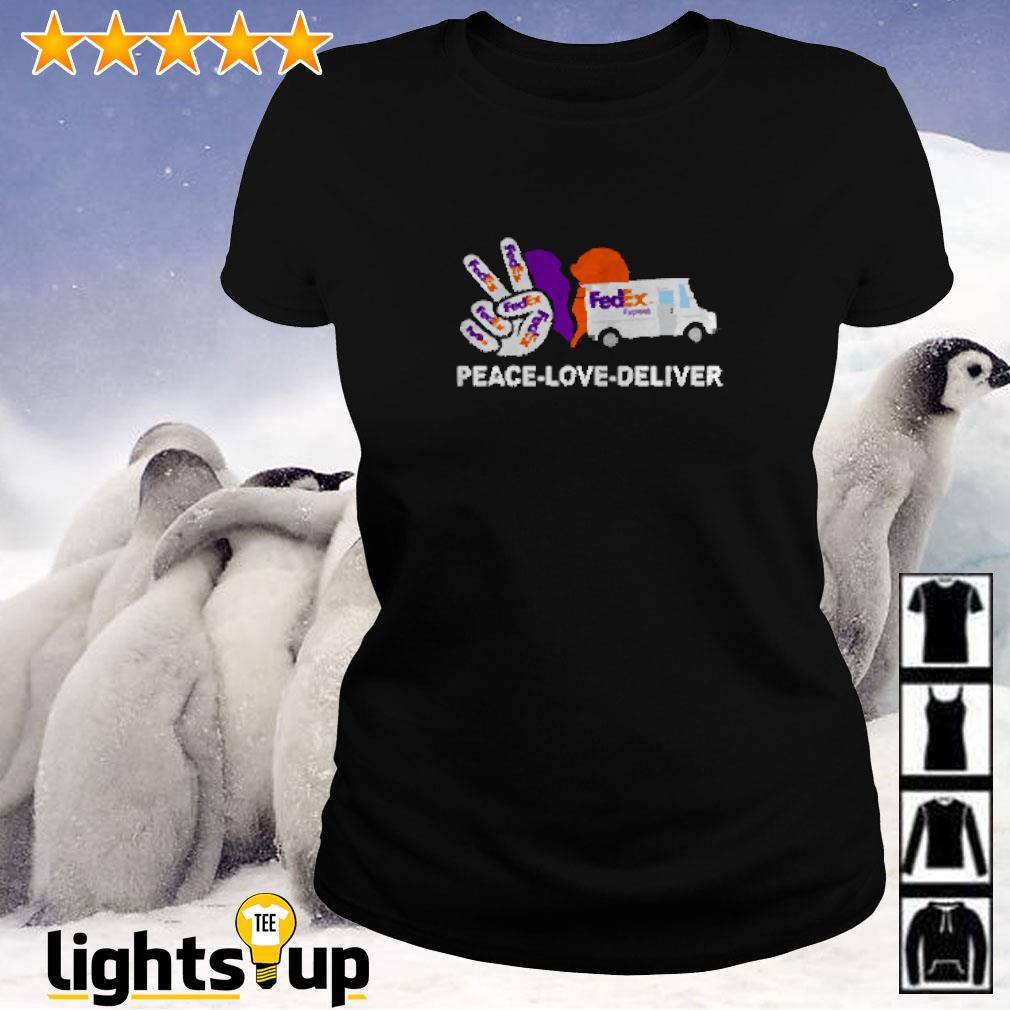 Peace love deliver FedEx express Ladies-tee