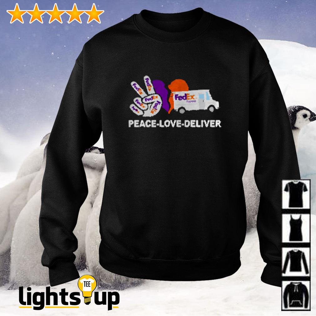 Peace love deliver FedEx express Sweater