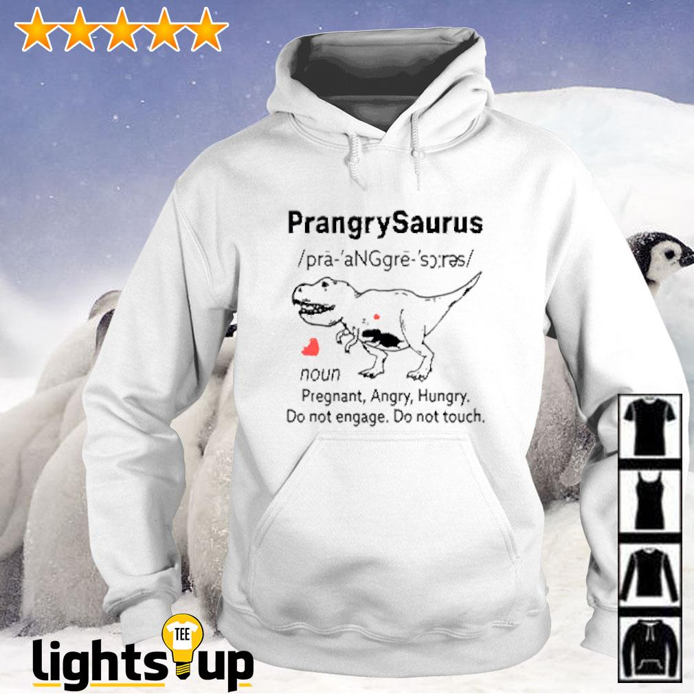 Prangrysaurus definition pregnant angry hungry do not engage do not touch Hoodie