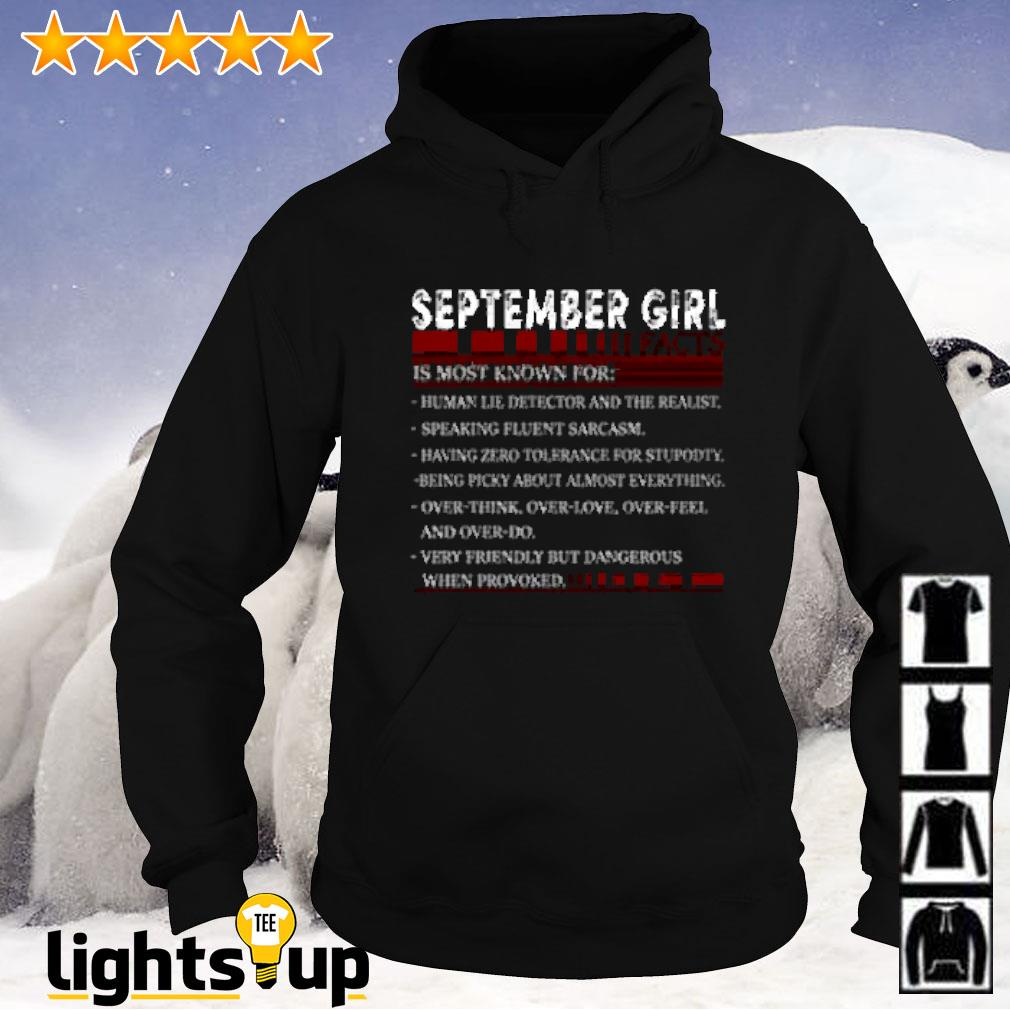 September girl facts is most known for human lie detector and the realist Hoodie