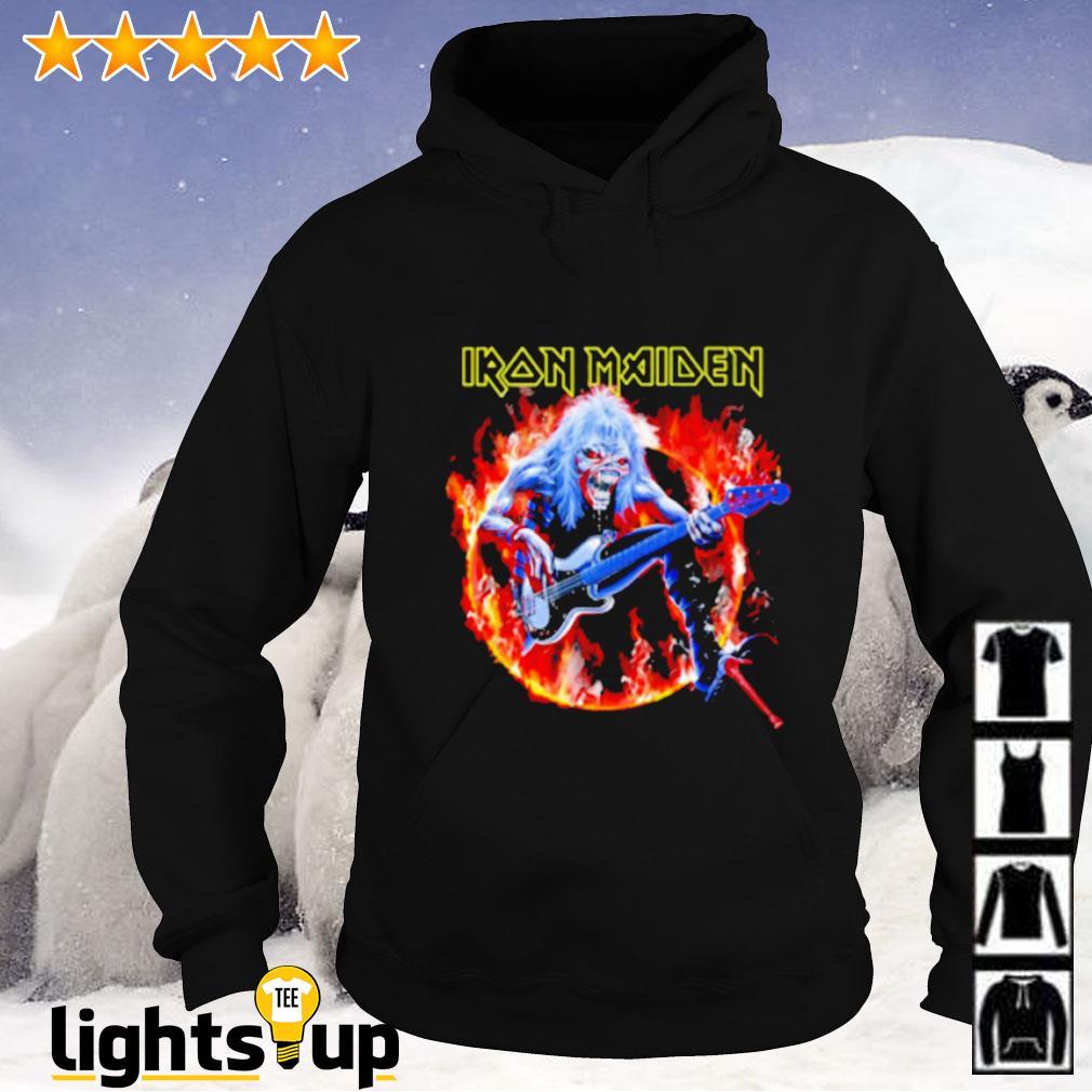 Skull Iron Maiden play guitar Hoodie