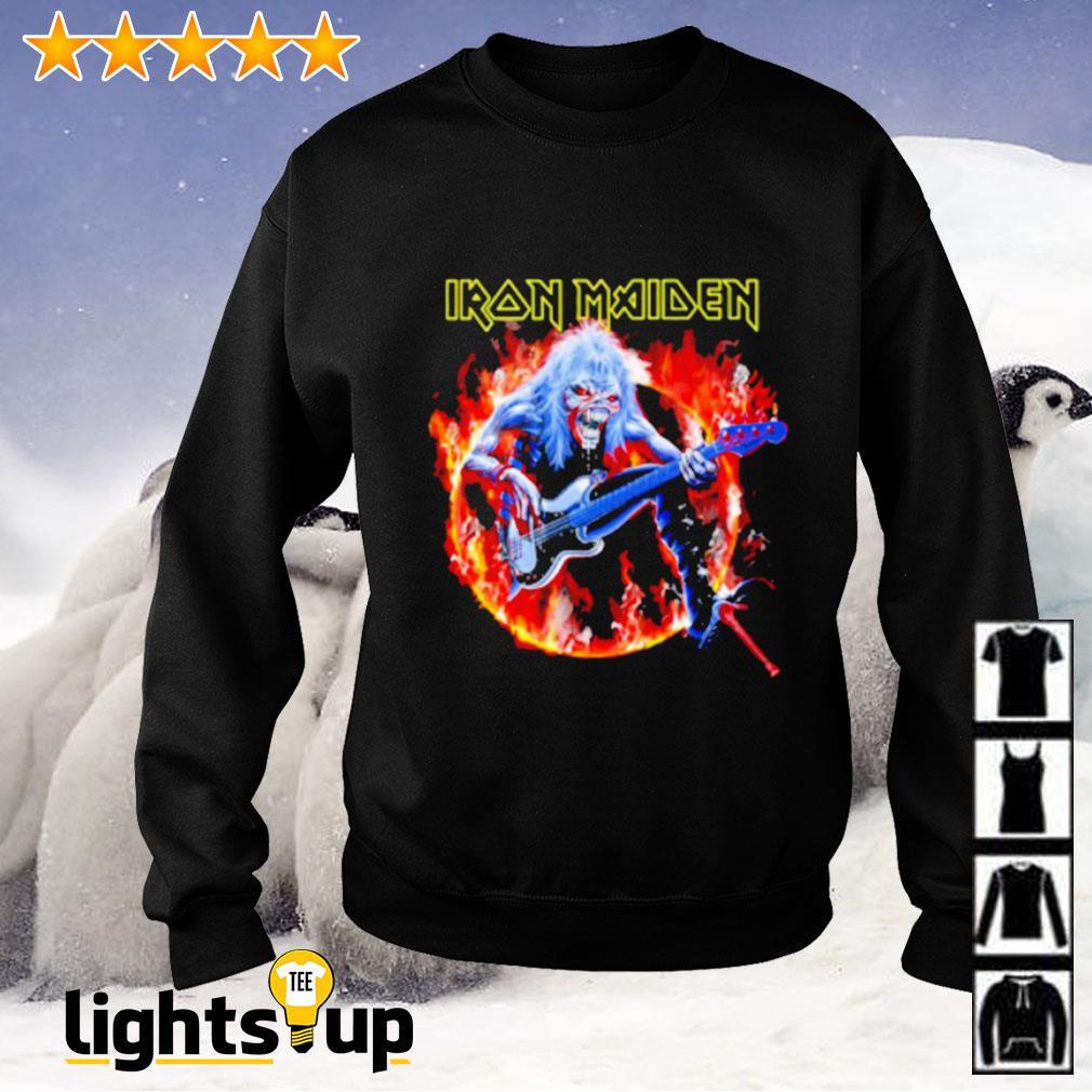 Skull Iron Maiden play guitar Sweater