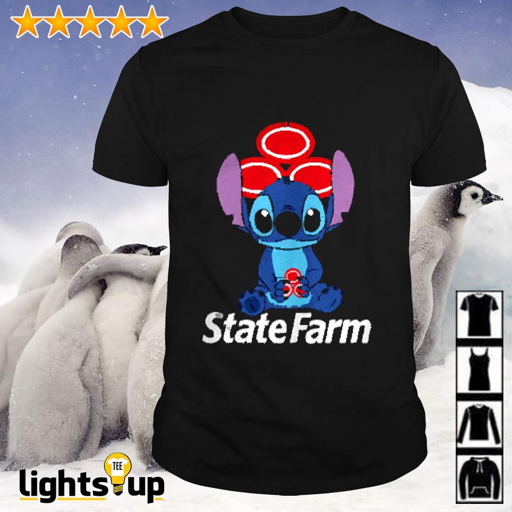 Stitch hug State Farm shirt