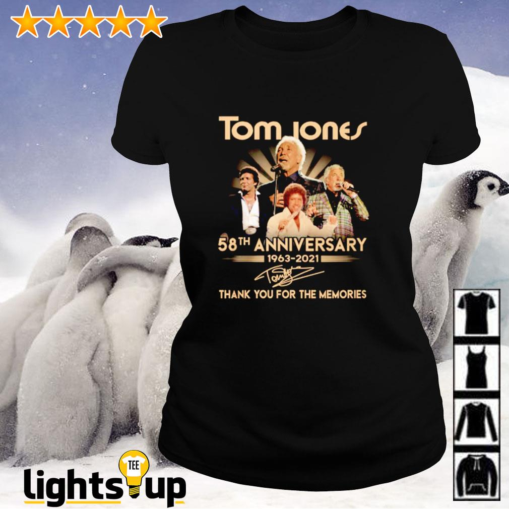 Tome Jones 58th anniversary 1963-2021 thank you for the memories signature Ladies-tee