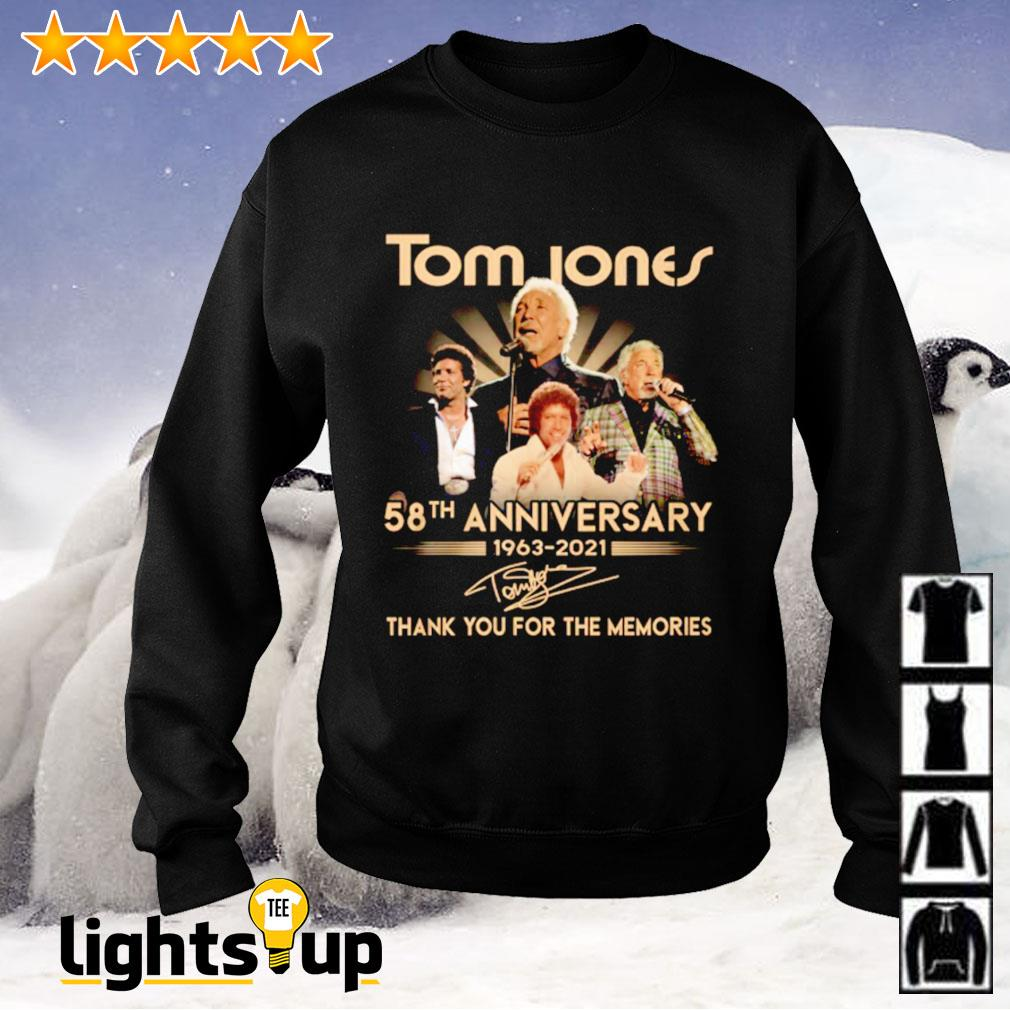 Tome Jones 58th anniversary 1963-2021 thank you for the memories signature Sweater