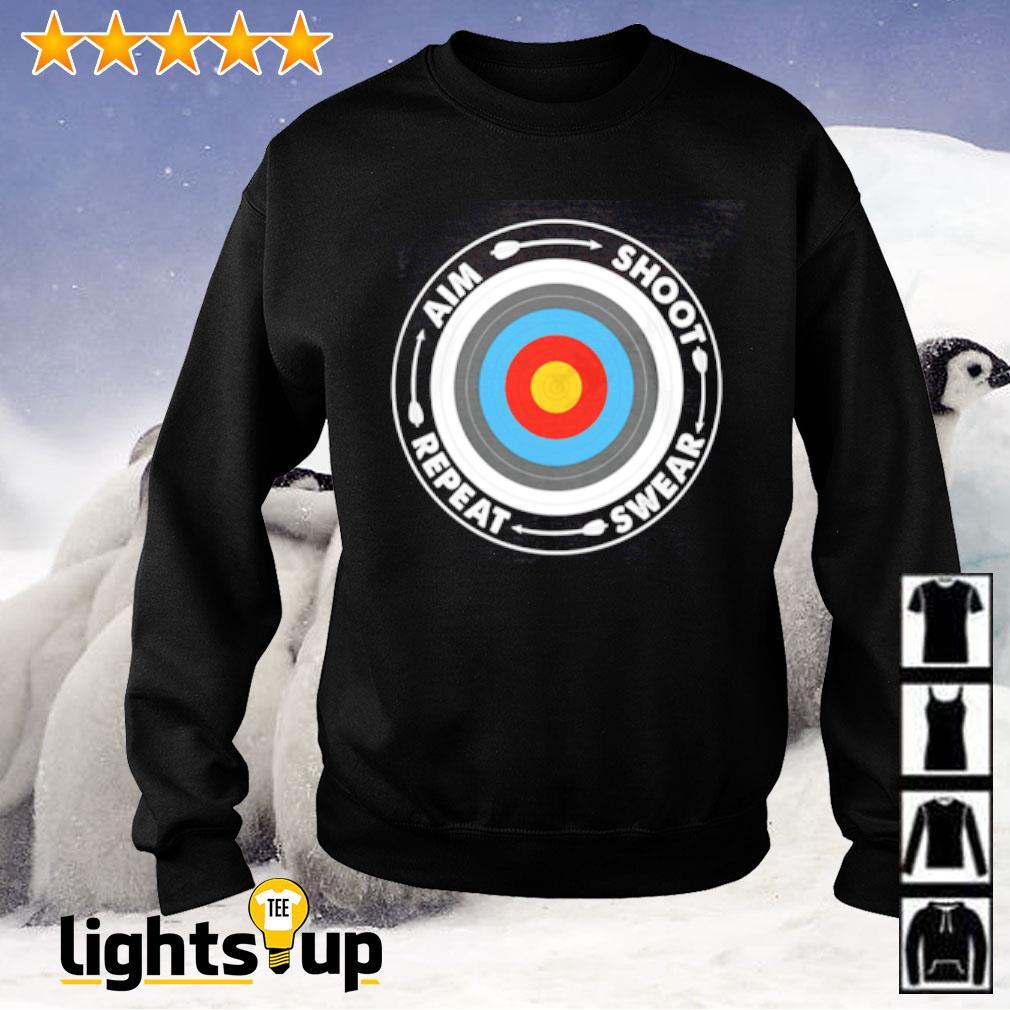 Archery aim shoot swear repeat Sweater