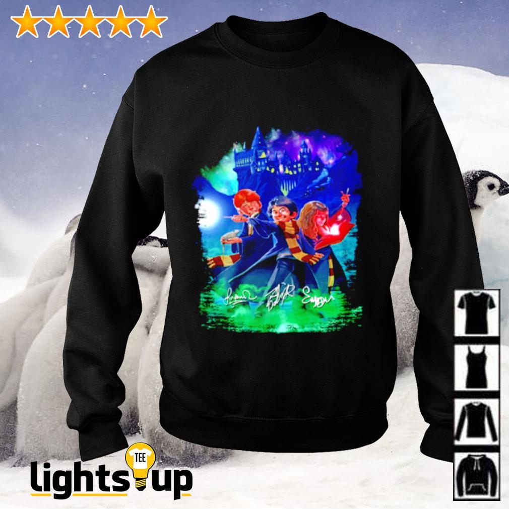 Harry Potter Galaxy Cartoon signature Sweater