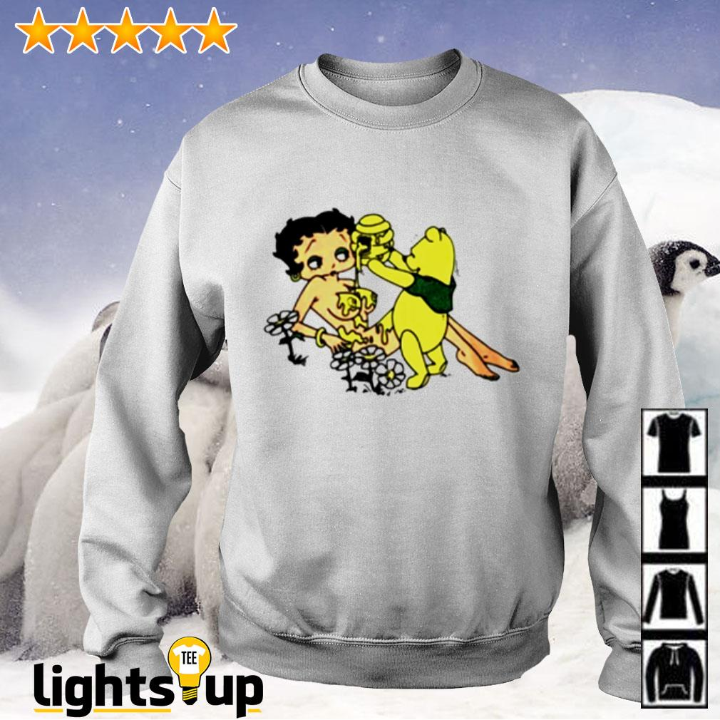 Honey Betty Boop and Pooh bear Sweater