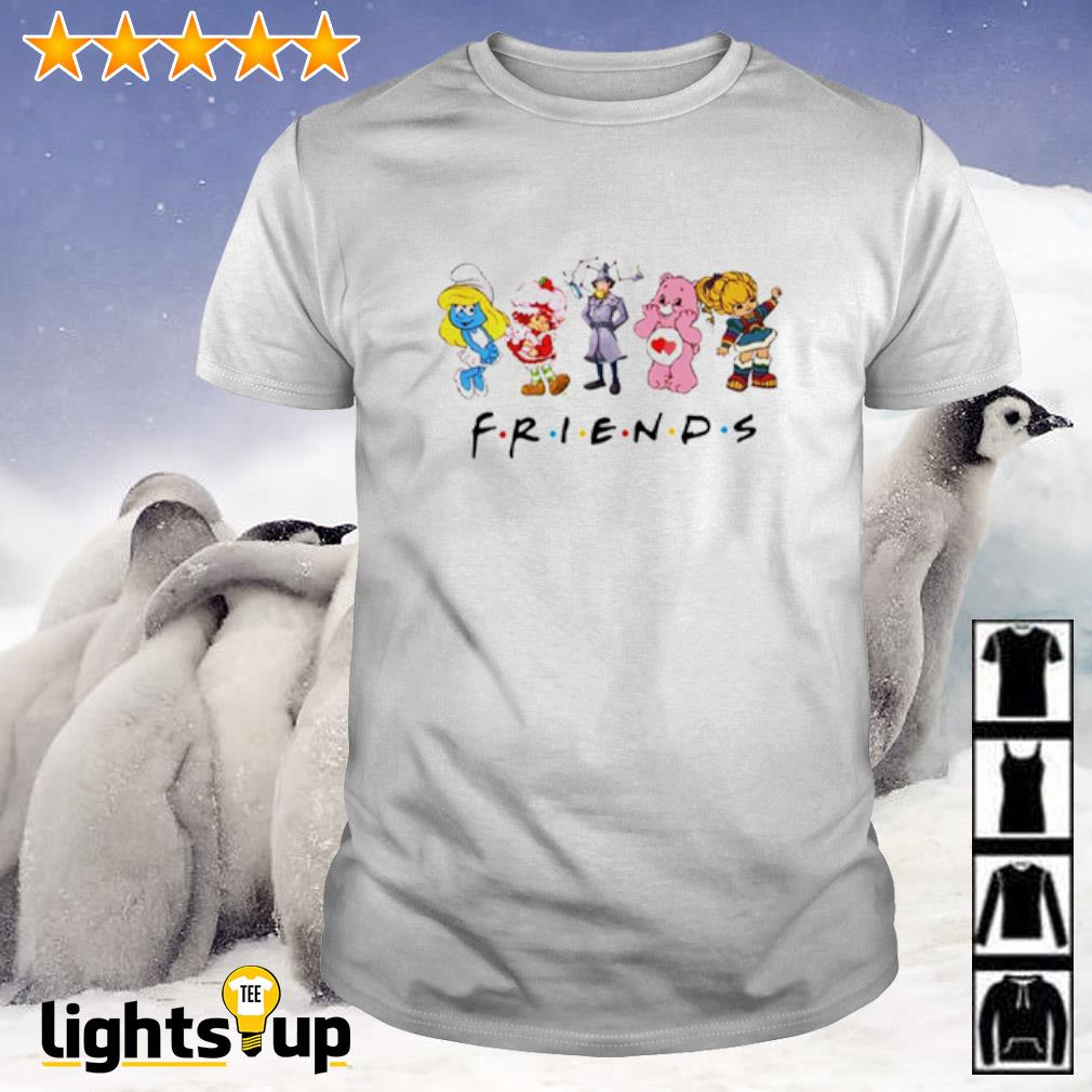 Rainbow Brite bear Sherlock Holmes Smurfs friends shirt